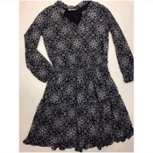 Style & Co Black & White Long Sleeve Dress PS